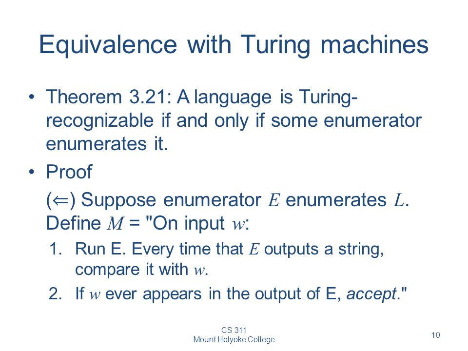 Equivalence with Turing machines