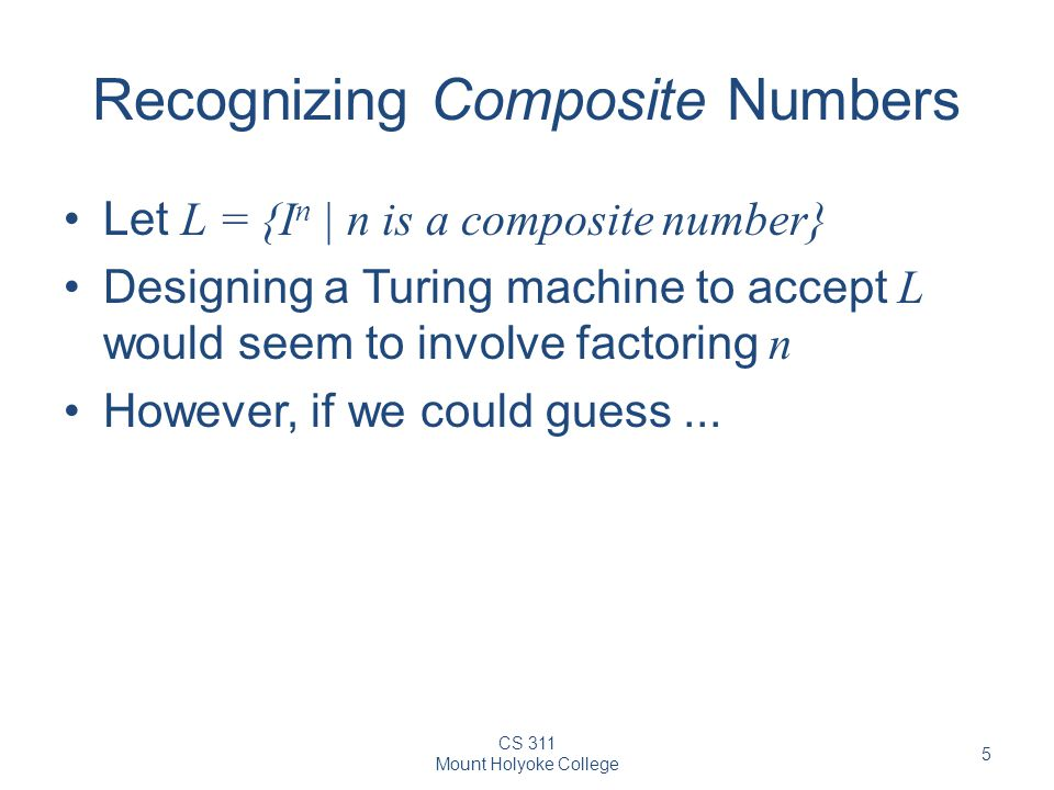 Recognizing Composite Numbers