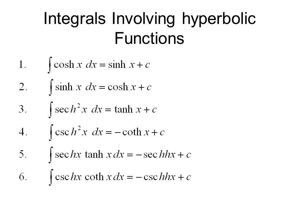 Hyperbolic Functions Ppt Video Online Download