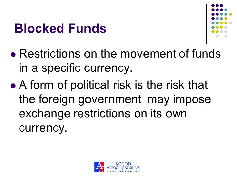 blocked funds