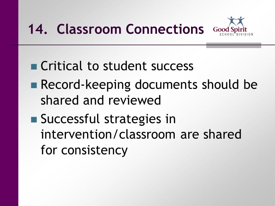 14. Classroom Connections