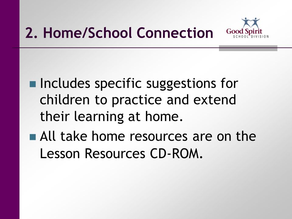2. Home/School Connection