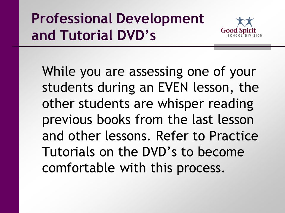 Professional Development and Tutorial DVD's