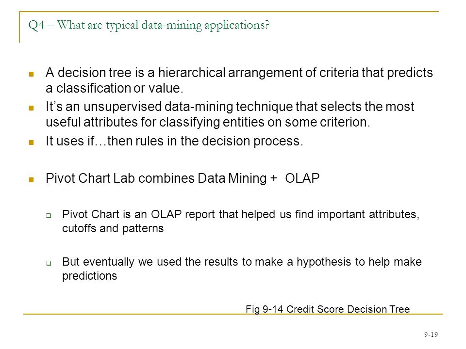 Q4 – What are typical data-mining applications