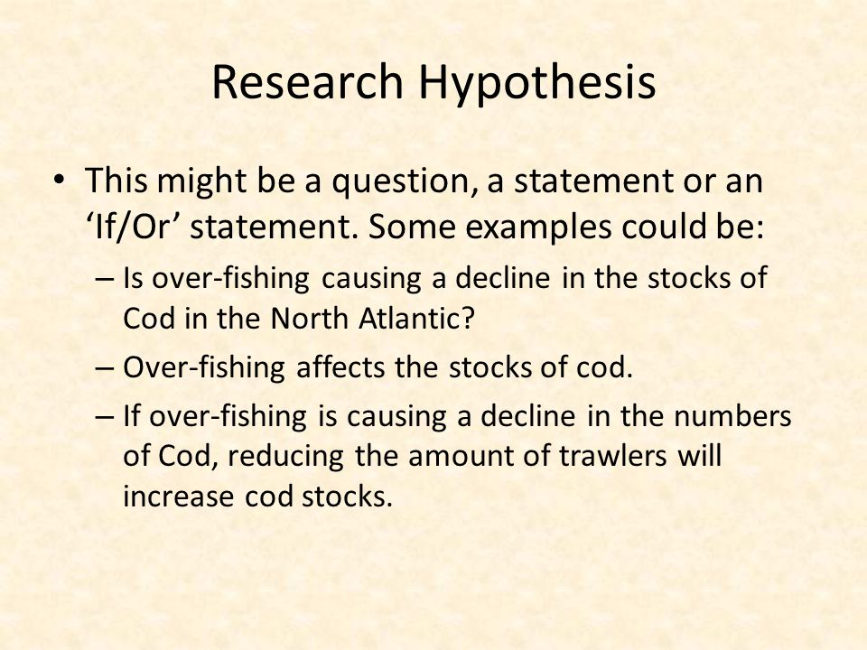 Research Hypothesis Ppt Video Online Download