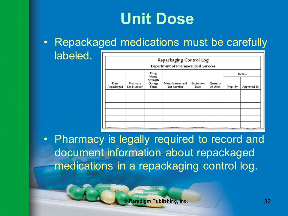 Expiration dating of unit-dose repackaged drugs