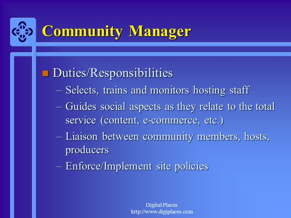 Community Manager Duties/Responsibilities