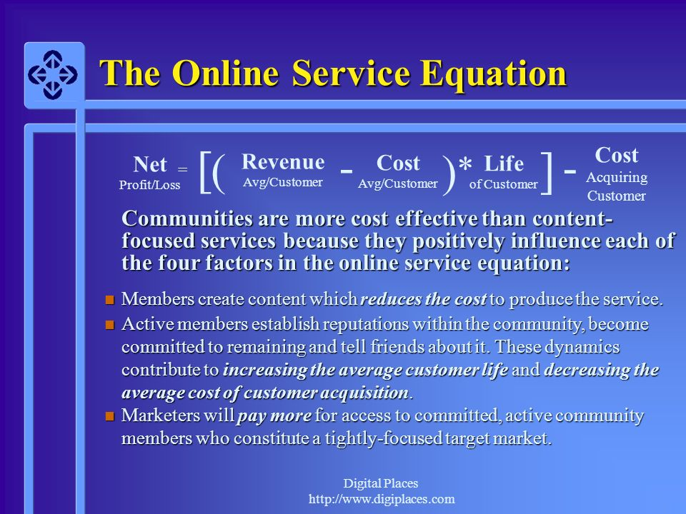 The Online Service Equation