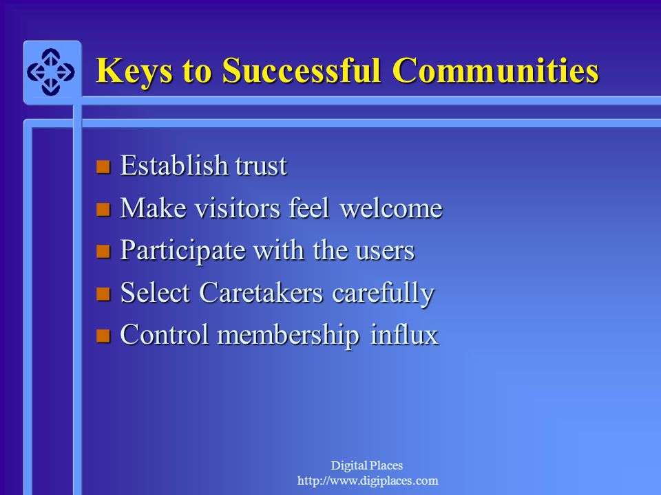 Keys to Successful Communities