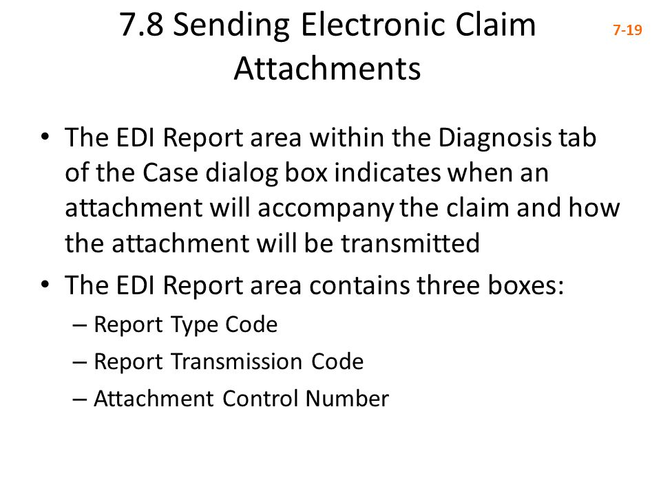7.8 Sending Electronic Claim Attachments