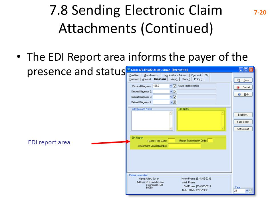 7.8 Sending Electronic Claim Attachments (Continued)