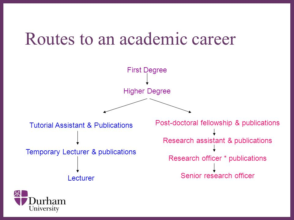 Routes to an academic career
