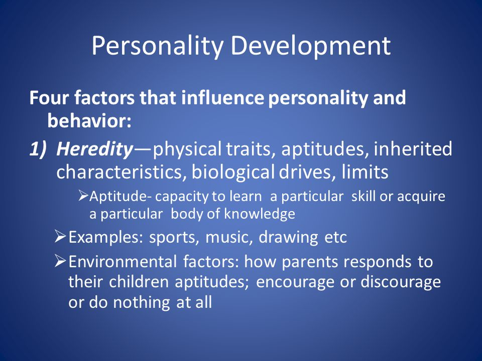 environmental factors affecting personality
