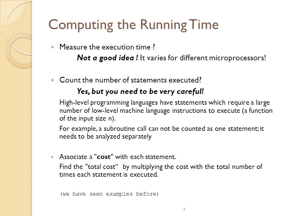 Computing the Running Time