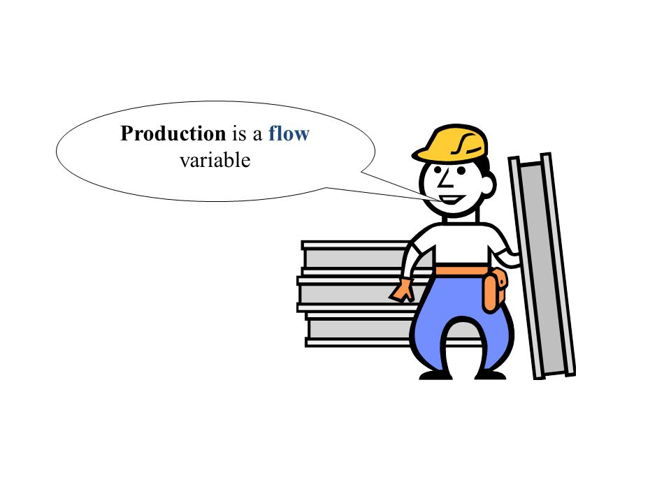 Production is a flow variable