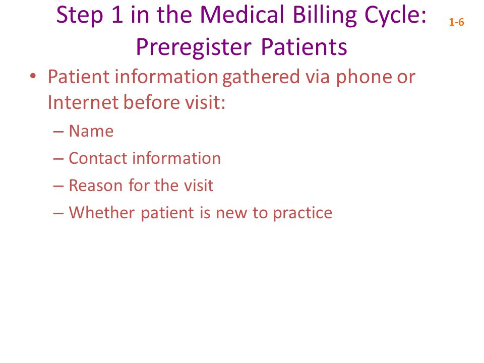 Step 1 in the Medical Billing Cycle: Preregister Patients