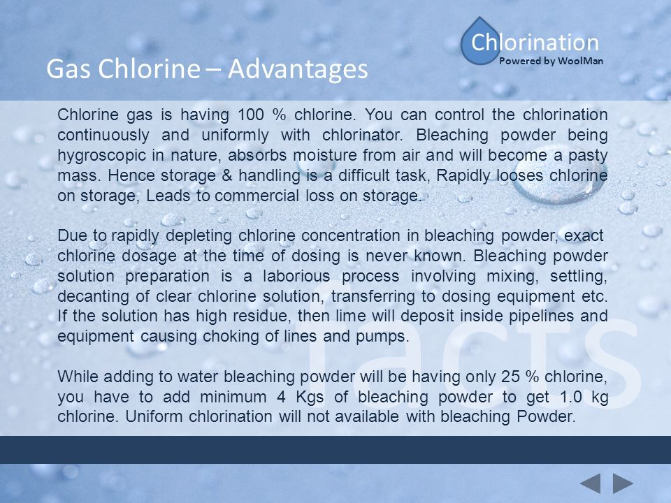 facts Gas Chlorine – Advantages Chlorination