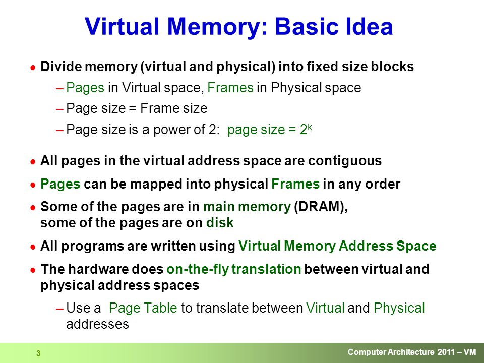 Computer Architecture Virtual Memory - ppt download
