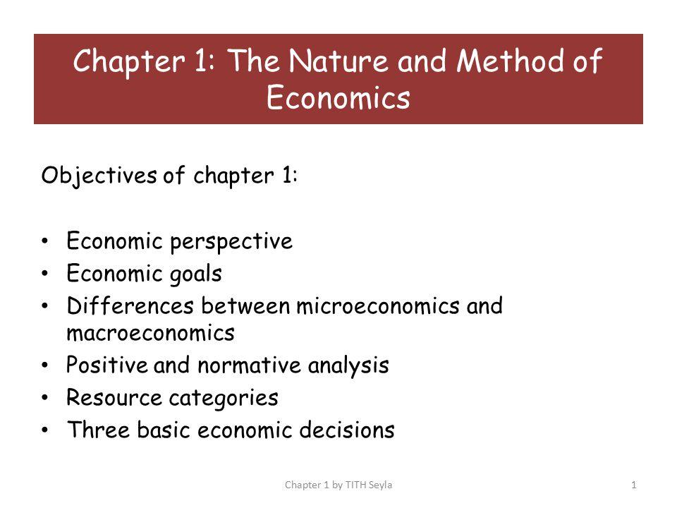 nature of microeconomics