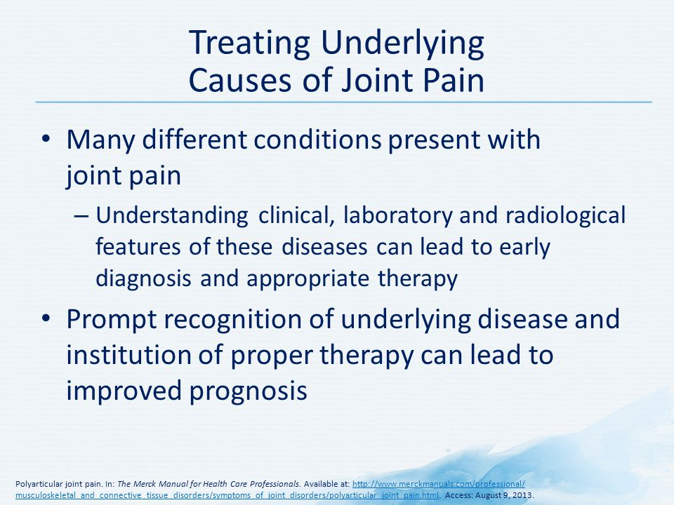 Treating Underlying Causes Of Joint Pain
