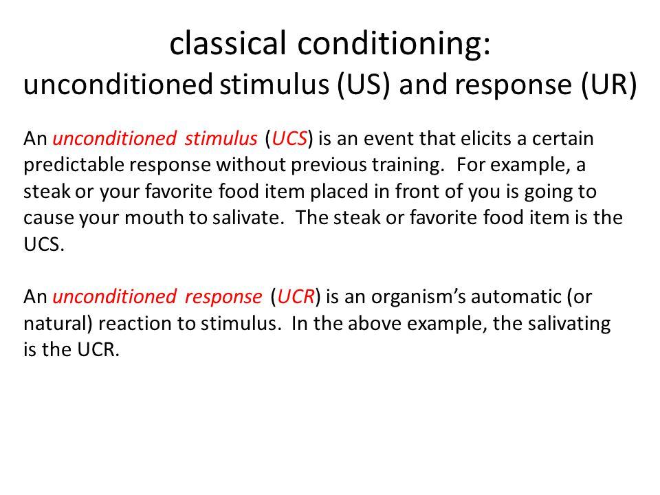 stimulus response conditioning