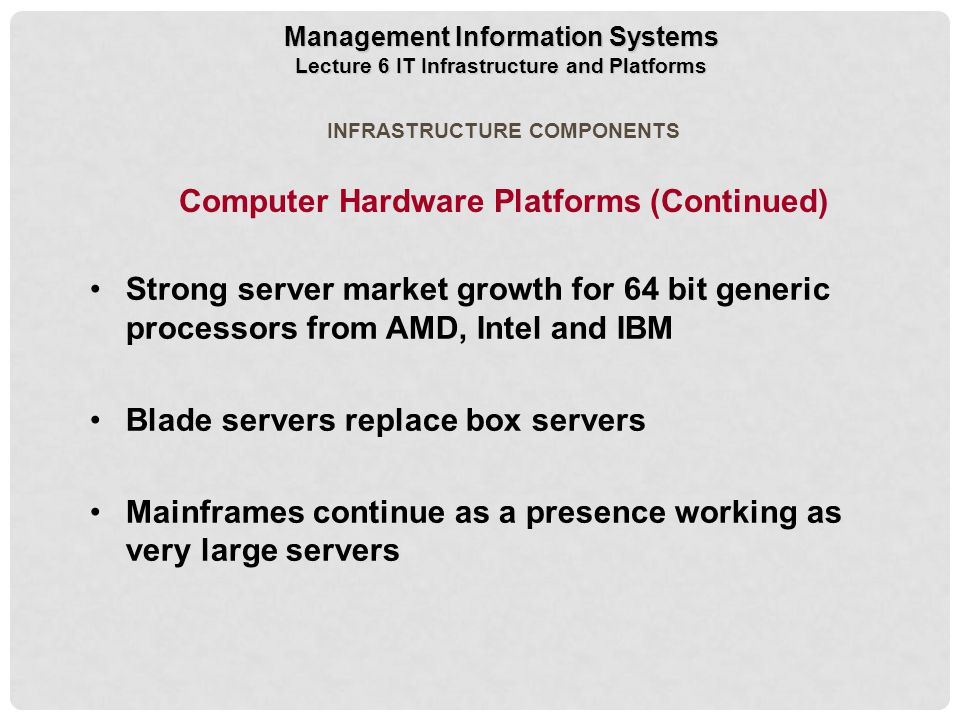 Computer Hardware Platforms (Continued)