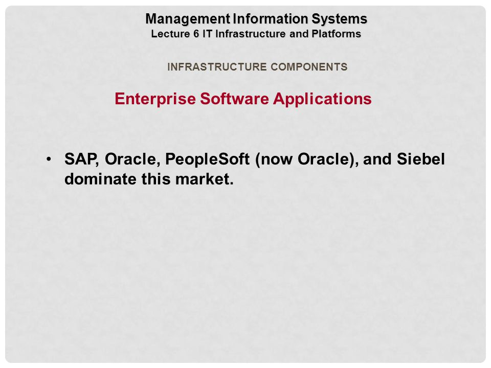 Enterprise Software Applications