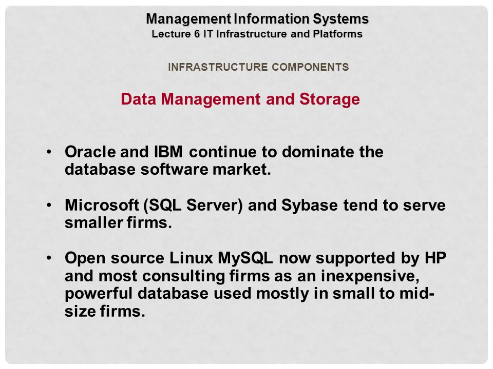 Data Management and Storage