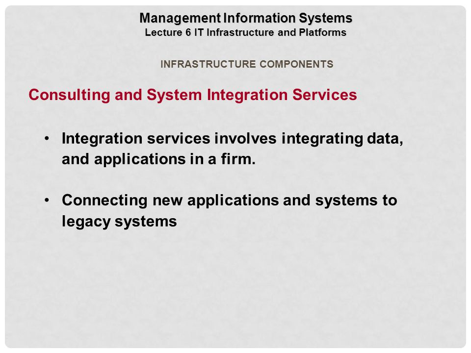 Consulting and System Integration Services