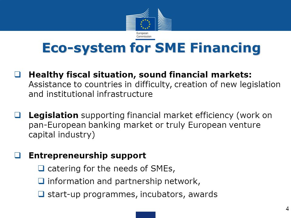 Eco-system for SME Financing