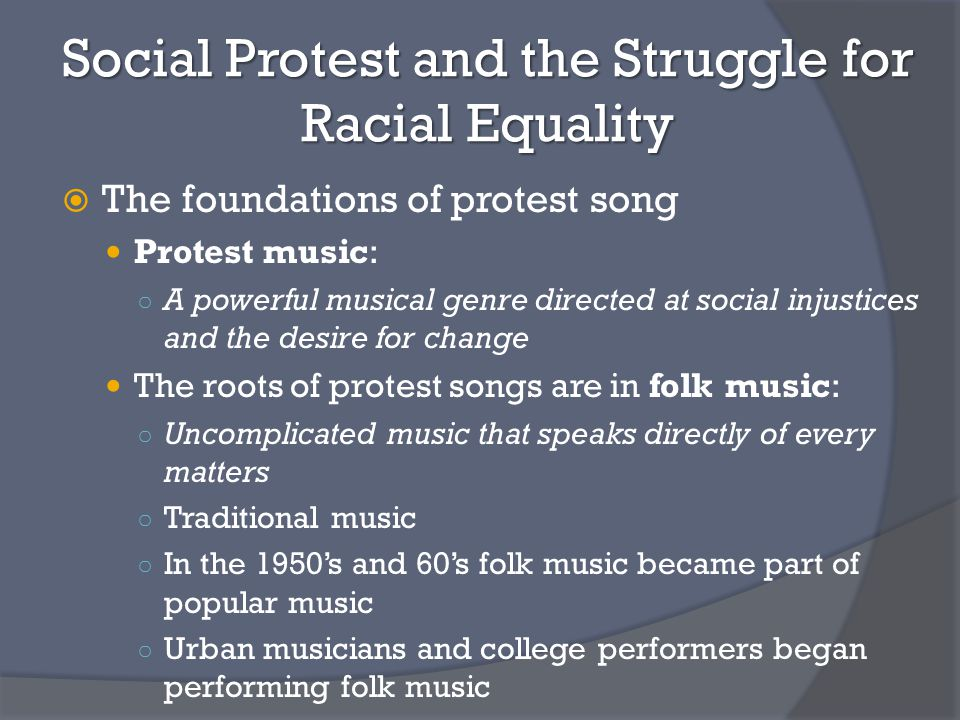Music in Political and Social Movements - ppt video online