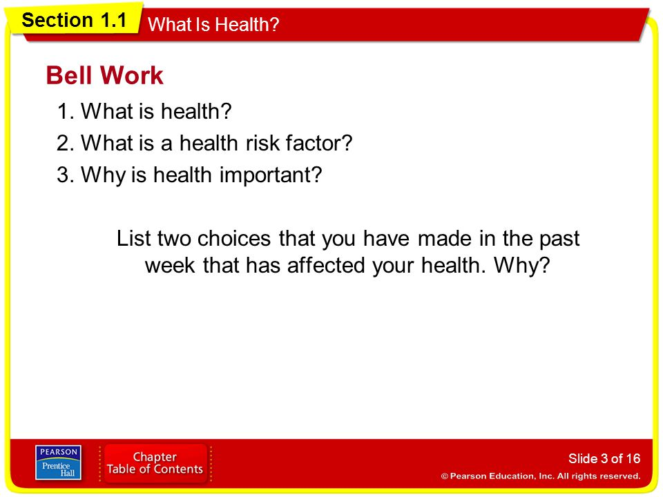 Health 2 Work.Section 1 1 What Is Health Objectives Ppt Video Online Download