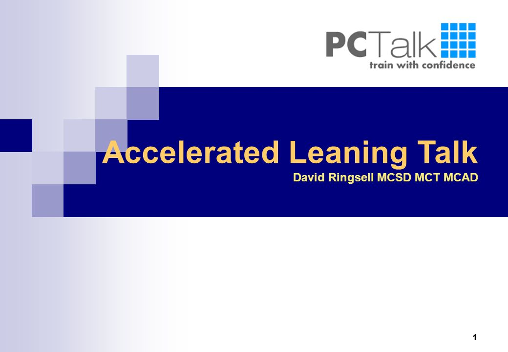 Accelerated Leaning Talk
