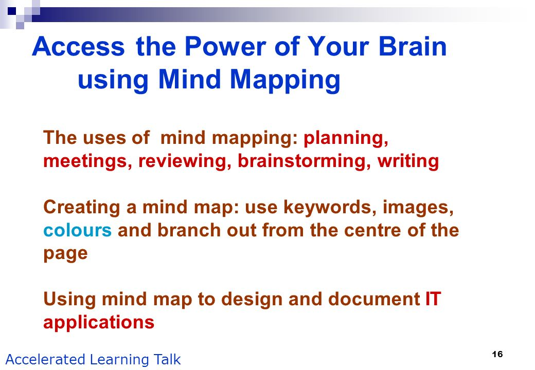 Access the Power of Your Brain using Mind Mapping