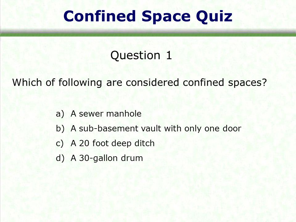 WISHA Confined Spaces Standard - ppt download