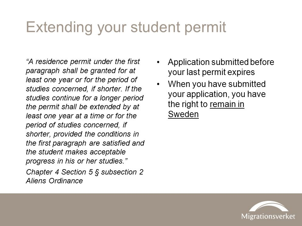 Extending your student permit