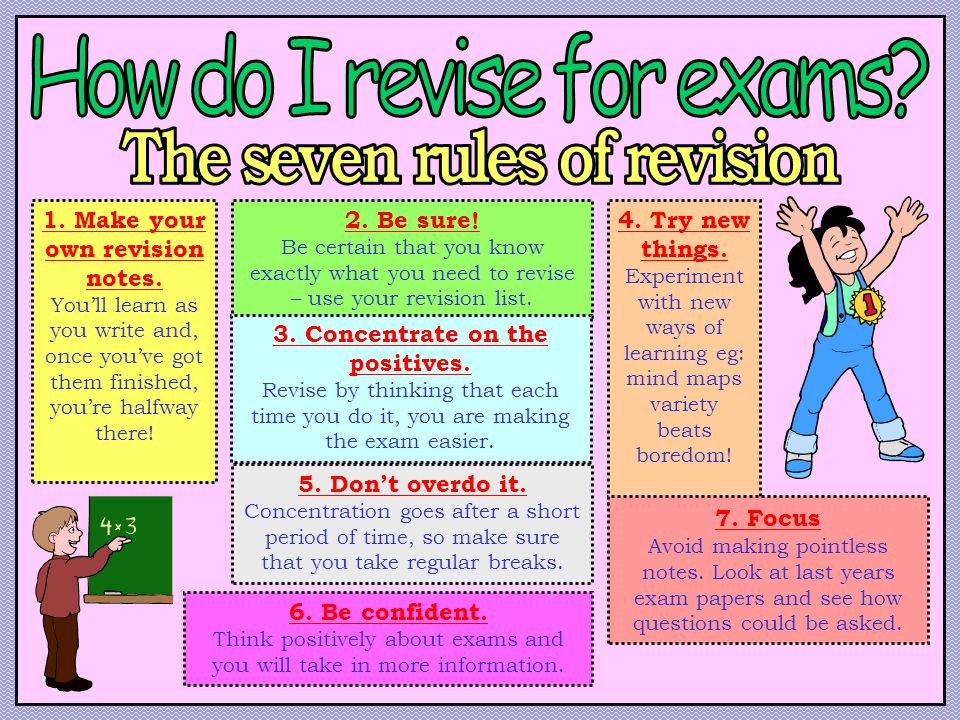 The seven rules of revision