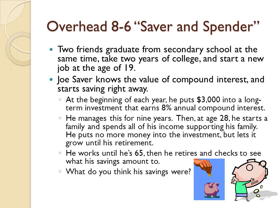 spender or saver meaning