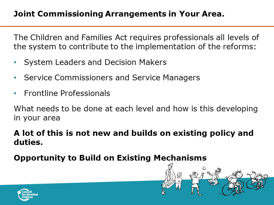 Joint Commissioning Arrangements in Your Area.
