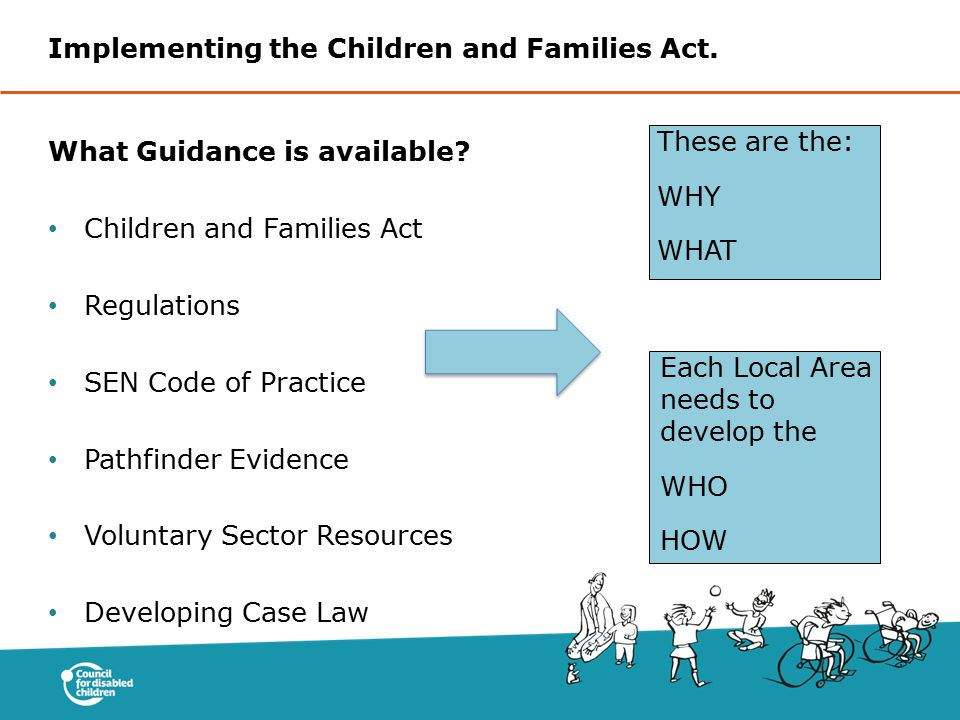 Implementing the Children and Families Act.