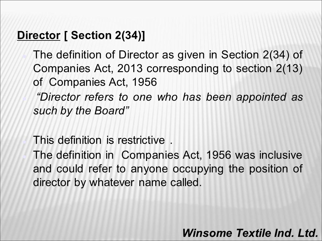 roles and responsibilities of directors under companies act ppt download