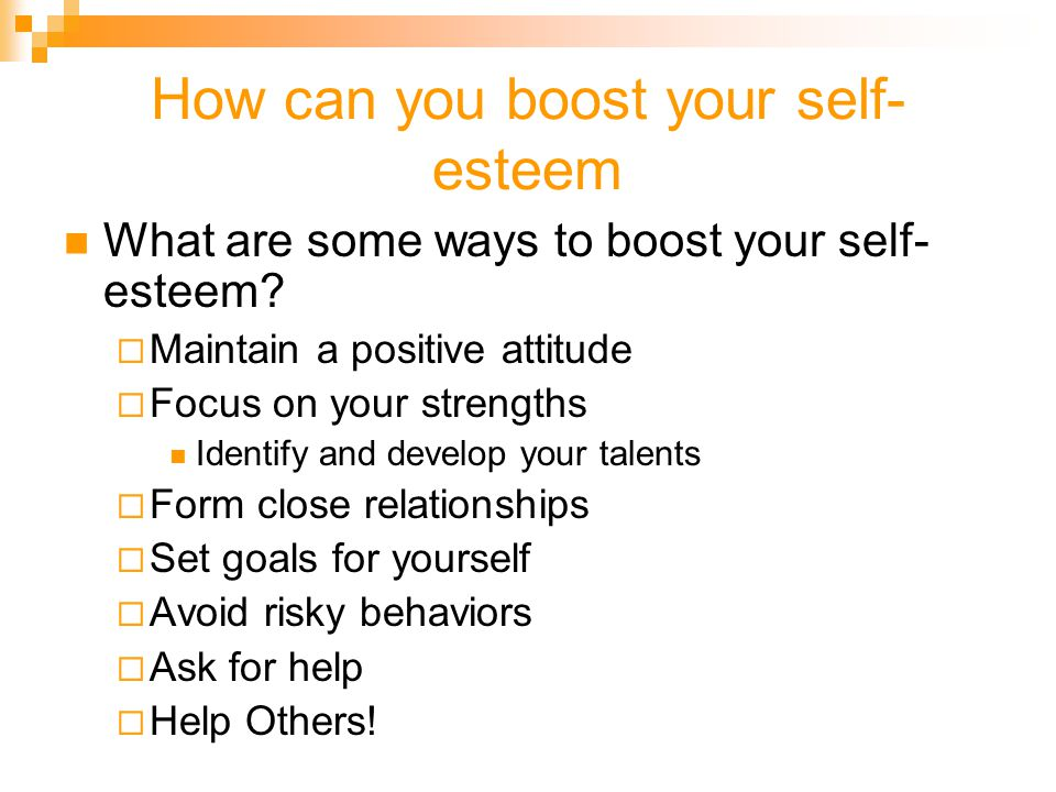 How can you boost your self-esteem