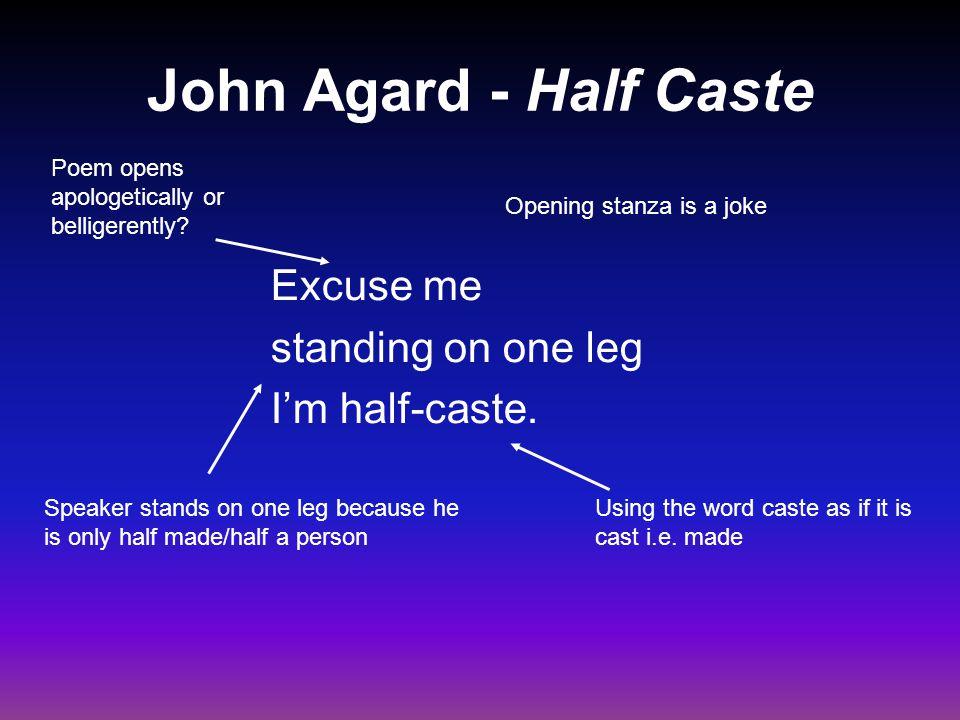john agard reading half caste