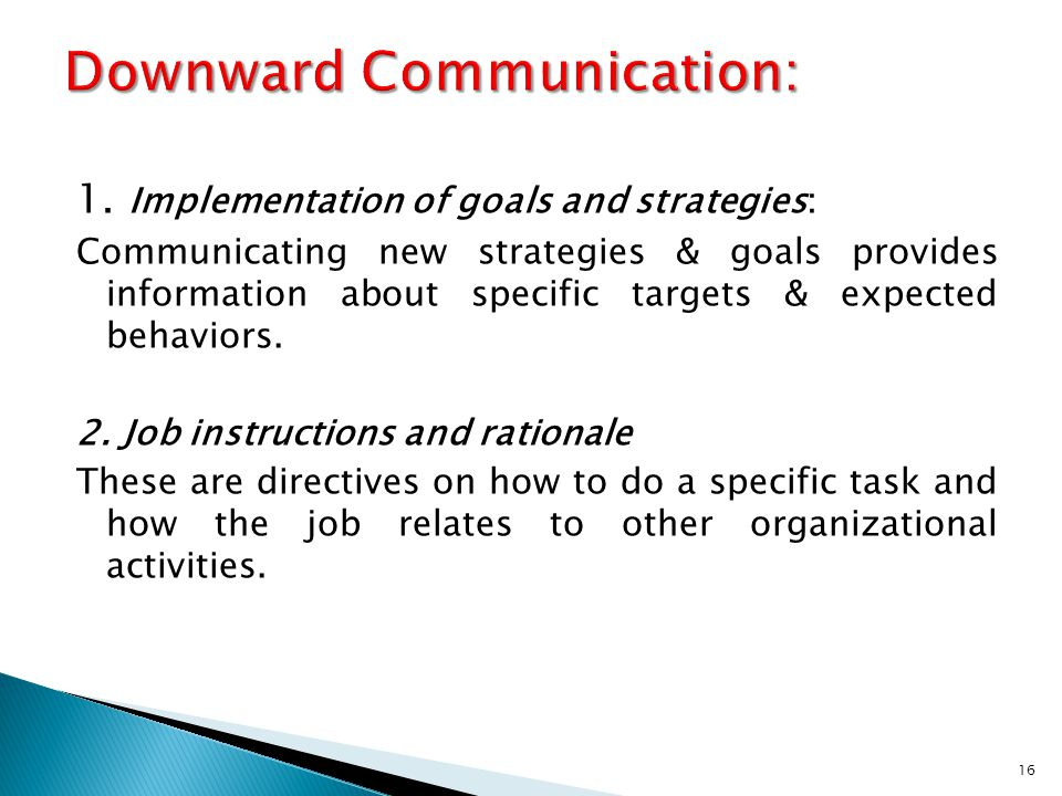 Downward Communication: