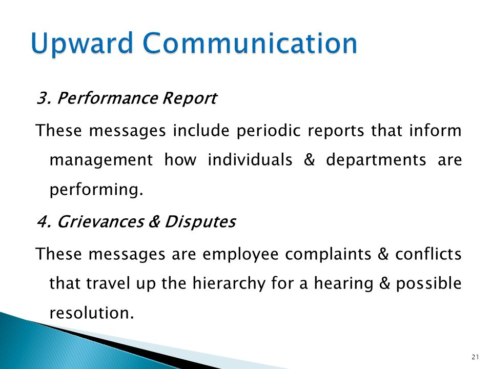 Upward Communication
