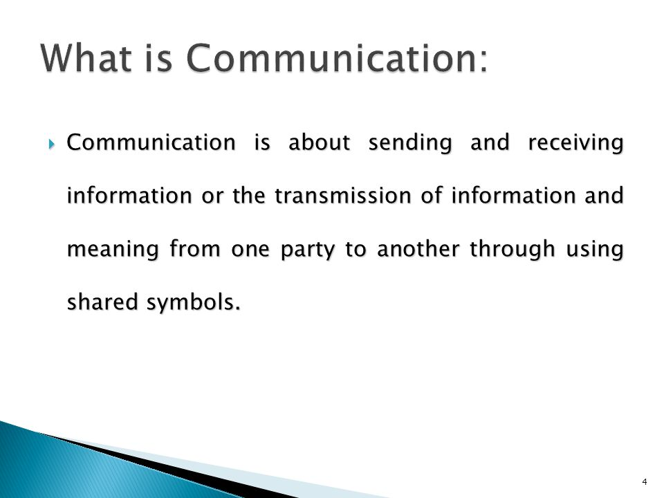 What is Communication:
