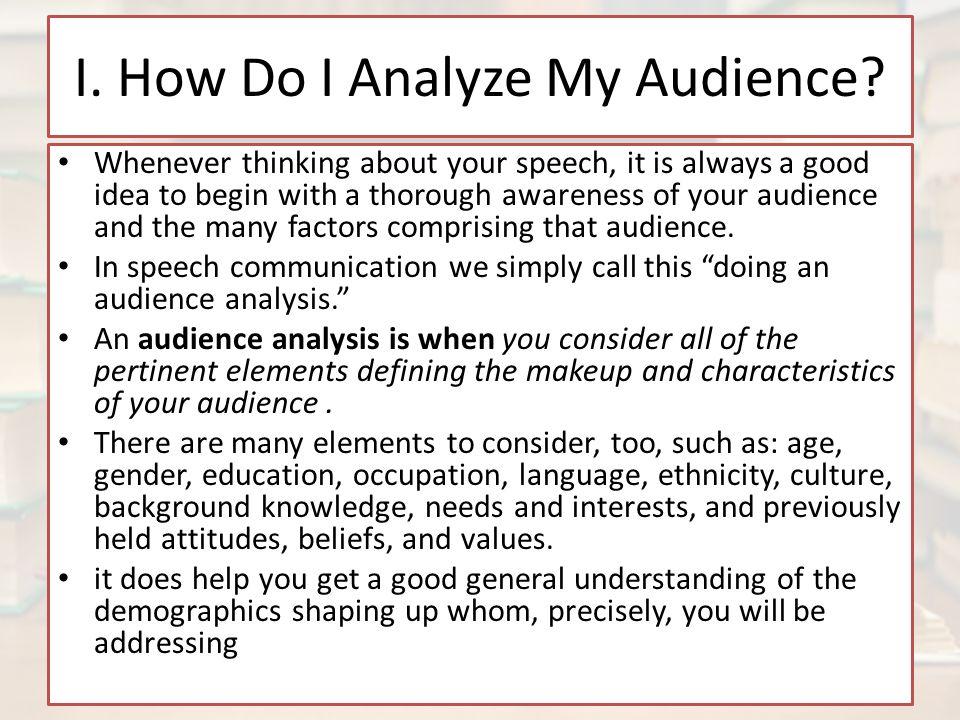 analyze a speech