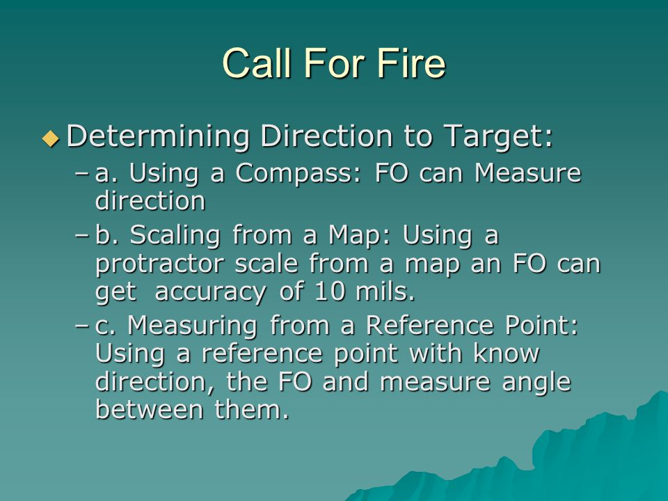 Call For Fire Determining Direction to Target: