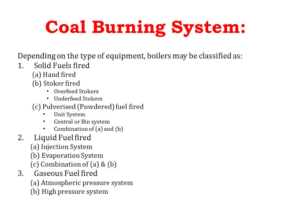 Coal Burning System. - ppt video online download