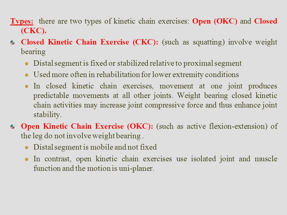 Image result for open vs closed chain exercises